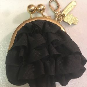 Coin purse with Black Ruffles by LeSportsac